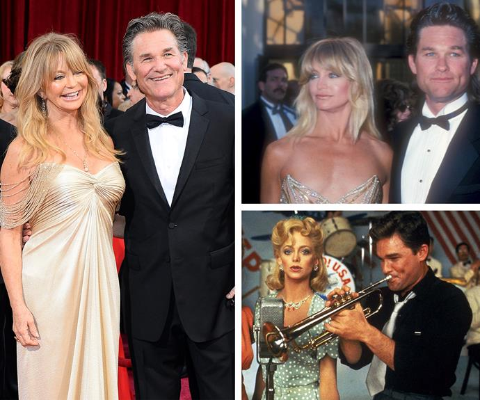 Golide Hawn and Kurt Russell... AKA the reigning couple of Hollywood met in 1984 on the set of *Swing Shift *and have been together ever since. [The pair have never married](http://www.womansday.com.au/celebrity/hollywood-stars/goldie-hawn-on-making-her-32-year-romance-with-kurt-russell-work-12746) but are more in love than ever.