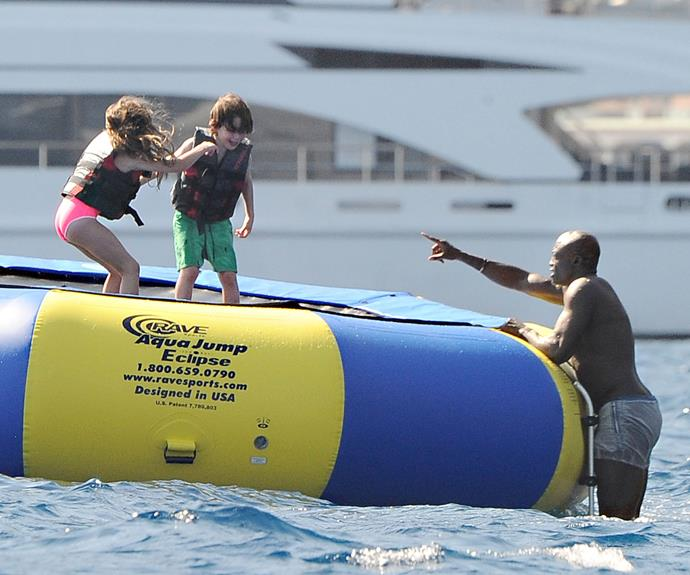 Seal bonds with Erica Packer's kids Indigo and Jackson