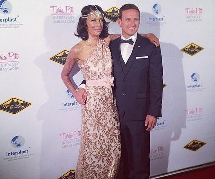 In April Turia, pictured with husband-to-be Michael, and Interplast [threw a fundraiser]( http://www.womansday.com.au/celebrity/australian-celebrities/turia-pitt-throws-a-great-gatsby-themed-fundraiser-12216) to help raise money for their mission.