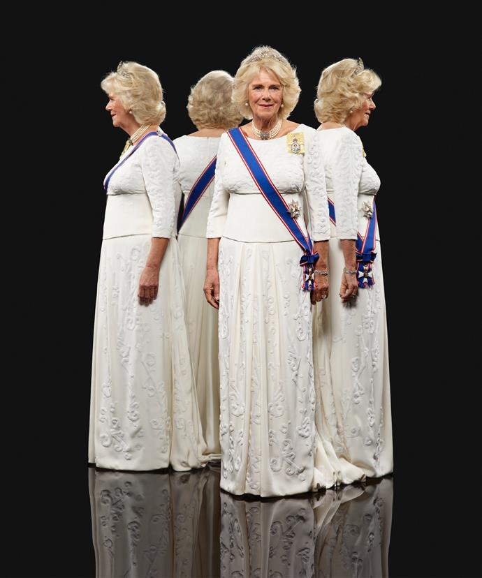 The Duchess of Cornwall looked incredible and regal in the cream formal dress.