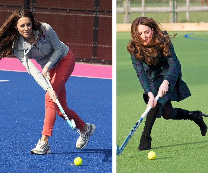 Not only does she love planking and Pilates, but Duchess Catherine enjoys playing hockey, too.