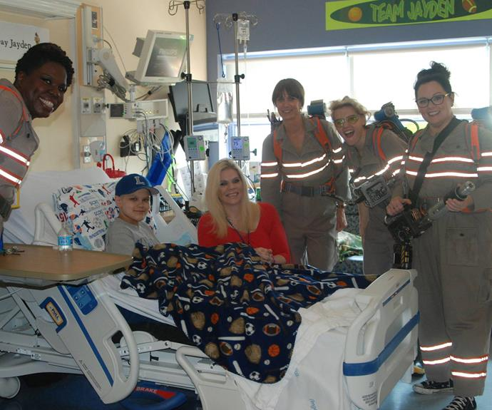 """The four funny ladies made everyone smile.  """"They were a true delight to have today. They were so kind to all the kids and their parents."""" Brooke Hynes from Tufts Medical Center told *E! News*."""