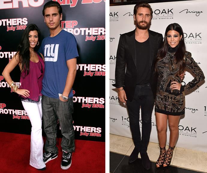 """If ever there was a reality TV love story for the ages, it was Kourtney Kardashian and Scott Disick's epic saga. While the party boy had come so far since he first burst onto the scene in 2006 (L), their on-again-off-again partnership finally came crashing down after the 32-year-old hit the party circuit and was spotted getting close to his ex-girlfriend Chloe Bartoli. """"I am just taking it one day at a time. With everything going on right now, I need to be positive for myself,"""" the father-of-three told *Us Weekly* following their split."""