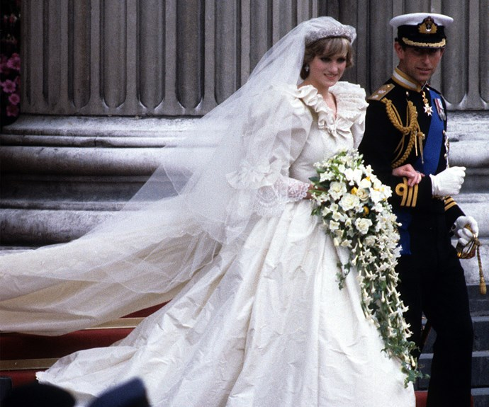 She was Lady Diana Spencer when she married Prince Charles in 1981. The world fell for the shy girl who glowed in a silk taffeta gown designed by David and Elizabeth Emanuel.