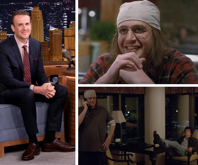 "Lovable funnyman Jason Segel has taken a turn from his usual comedy route for his role in the David Foster Wallace biopic *The End of the Tour*. Playing the famed American author, Jason put on over 18kg by eating Hot Pockets. ""By the end, I was running out of time. I had about two weeks left, so I put myself on a Hot Pocket diet, which was two Hot Pockets every three hours,"" Jason said on *Good Morning America*. ""It was horrible. I was eating like 12 Hot Pockets a day at that point. I was so sick of them."" With the huge Oscar buzz this film is getting, no doubt the carb intense diet was worth it!"