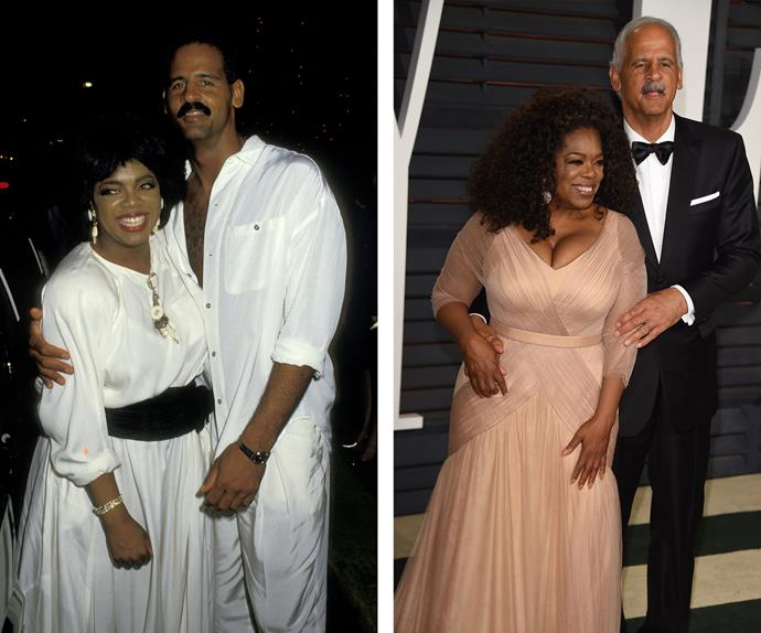 Despite never marrying and keeping their relationship very private, Oprah Winfrey and Stedman Graham have proved that love can last in Hollywood. They were beaming in 1987 (L), a year after they became a couple, and earlier this year at the Oscar's they had that same look of love almost three decades later.