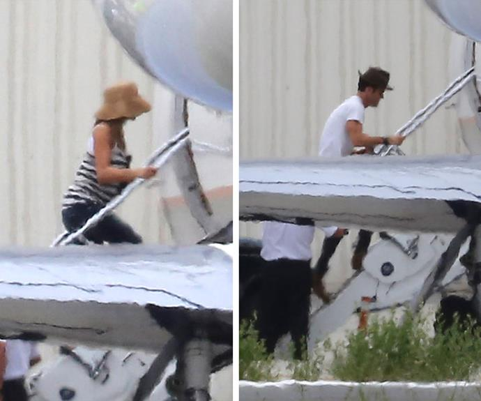 Jen and Justin boarded a private jet a day after the ceremony presumably to head to their honeymoon!