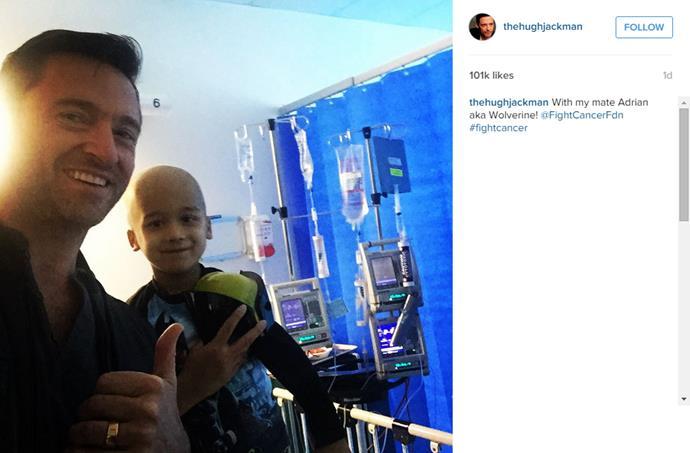 Hugh's Instagram of himself and Adriana AKA Wolverine!