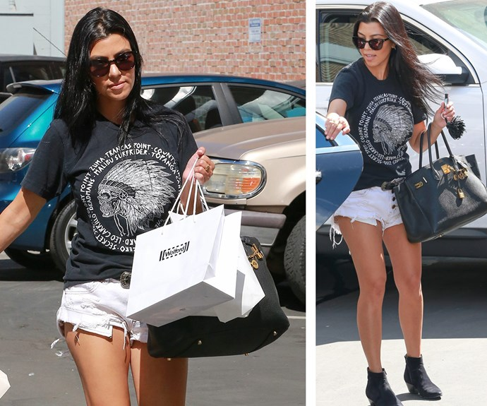 """""""My daily style is easy and effortless - I don't like to take too much time getting ready,"""" she explained to *Harper's Bazaar* last May, and when the diminutive beauty stepped out this August carrying an Hermès Birkin bag while wearing oversized black T-shirt and white denim shorts she was living up to her laid-back off-duty mantra."""