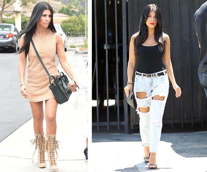 From bohemian beauty during filming for *KUWTK* (L) to grunge goddess as she leaves the studios in LA - Kourt is the ultimate style chameleon who can rock any vibe. **Listen to Scott talk about Kourt in the next slide. Gallery continues after the video**