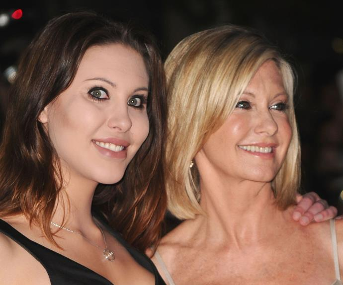 """Olivia and her daughter, picture here in 2010, have a close bond. """"To me luxury is to be at home with my daughter, and the occasional massage doesn't hurt."""""""
