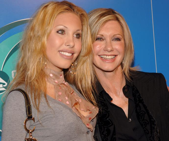 The singer was in her element while beside Olivia on the red-carpet. The duo are pictured here in 2005.