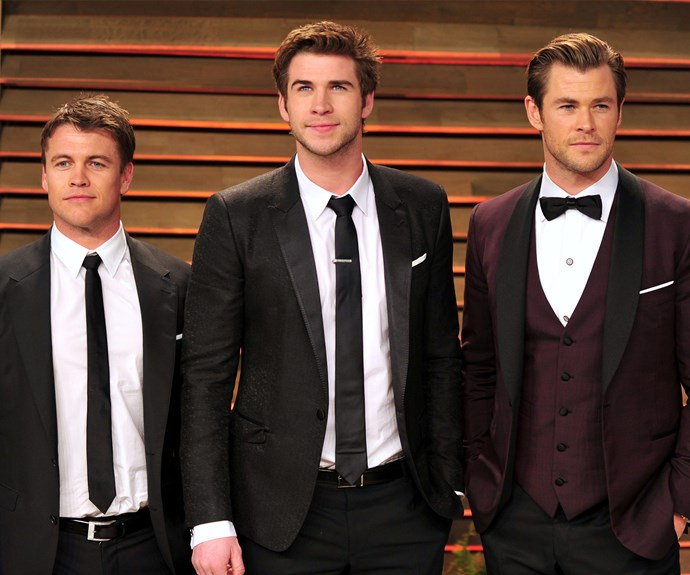 Chris makes up one third of the incredibly handsome Hemsworth boys. Chris, 32, Liam, 25, and their oldest brother, Luke, 33 always spotted together supporting each other's ventures.