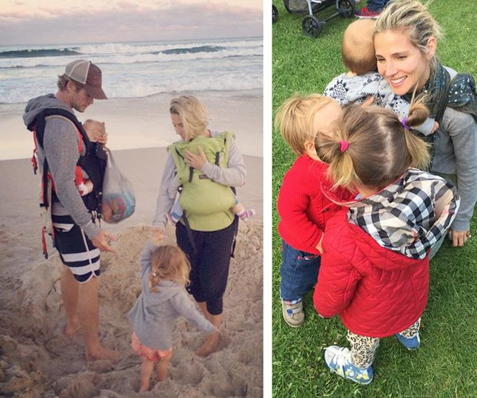 But for Australia's golden boy, his finest role has to be that of dad to his three darling kids: three-year-old India and one=-year-old twins Tristan and Sasha.