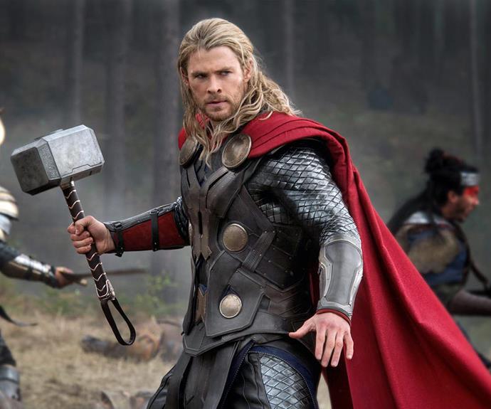 Chris rocked Hollywood as the marvelous superhero, *Thor.*