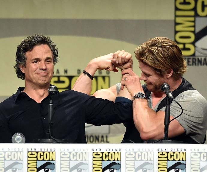 While the muscle man packs a punch as one of the industry's leading men...
