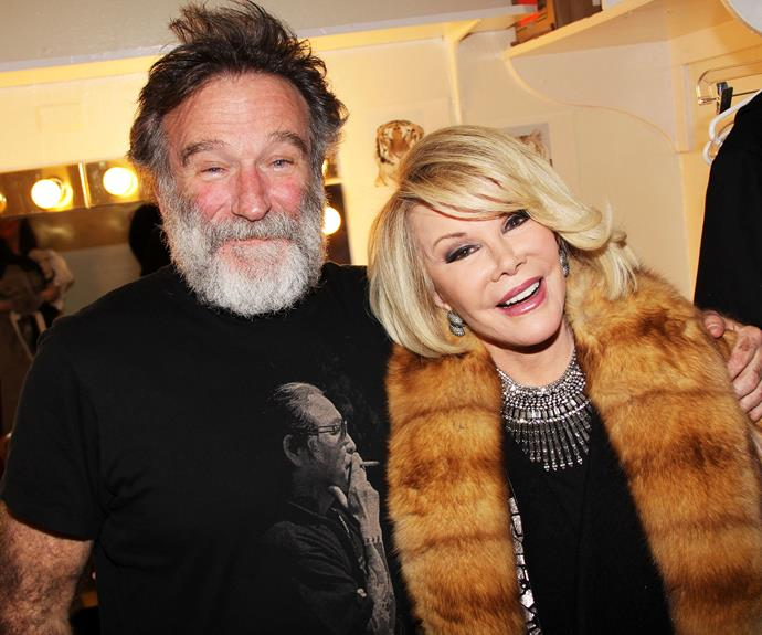 "Joan Rivers died just weeks after Robin, the pair were both legends of comedy with the red-carpet host revealing about her pal: ""Robin was one of the great interviews. You'd see him coming down that red carpet and you knew, OK, now we're gonna have fun."""