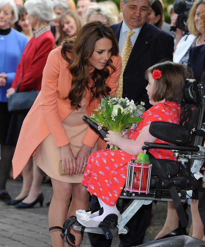 Children's health is an issue extremely close to Kate's heart.