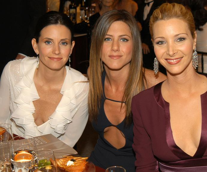 *Friends* co-stars Courteney Cox and Lisa Kudrow were both their for Jen's big day. On-and-Off-screen bestie, Courteney was Jen's maid-of-honour.