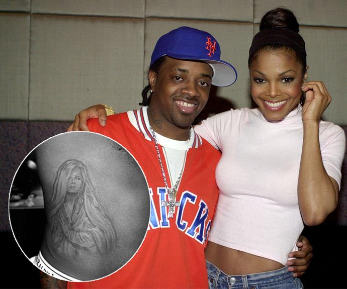 That's commitment! Jermaine Dupri wanted to show his love for now ex-girlfriend Janet Jackson loud and proud - and what better way to do that than with a tattoo of her as the Virgin Mary?