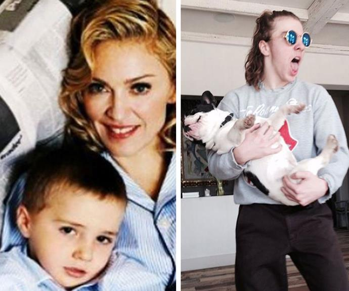 """Madonna shared these two snaps on Instagram to celebrate her first-born son's special day, writing """"15 years have gone by too quickly!!"""" We could not agree more!"""