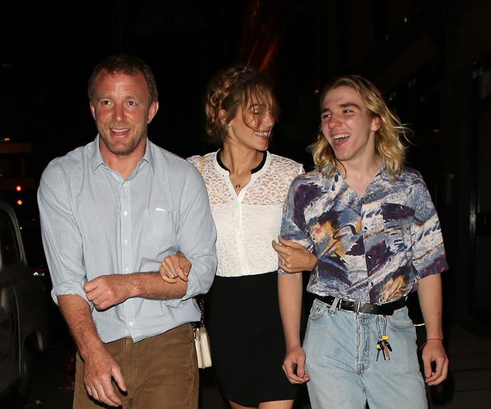Weeks before his [dad wed Jacqui Ainsley](http://www.womansday.com.au/celebrity/hollywood-stars/david-beckham-brad-pitt-at-guy-ritchies-wedding-13255), Rocco enjoyed some bonding time with the soon-to-be newlyweds.