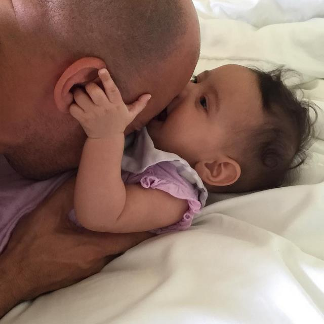 Vin Diesel and daughter, Pauline, share a sweet moment. It didn't take long for this image to viral after he posted it on Instagram on Tuesday.