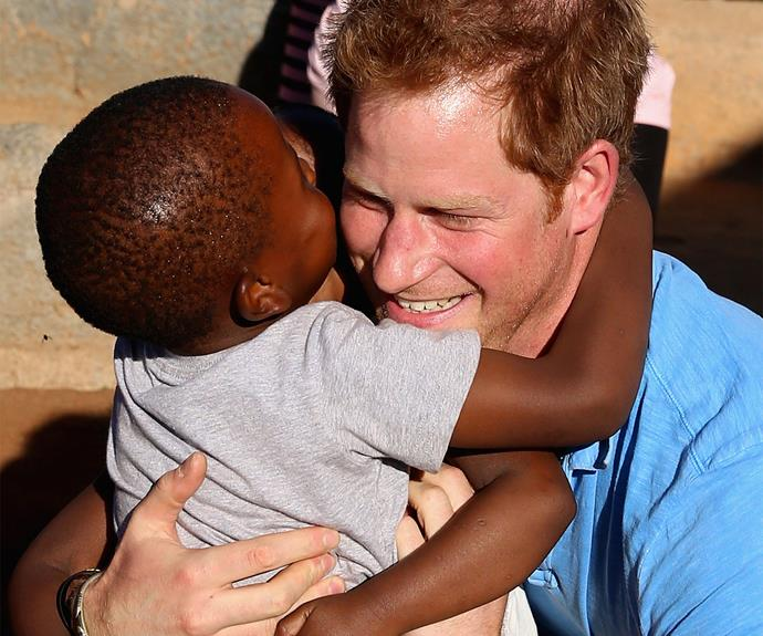 Of course Princess Diana's youngest son is a humanitarian at heart.