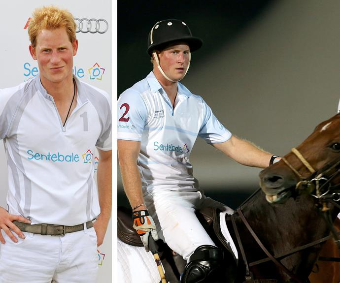 Prince Harry certainly earned his knighthood. We think he channels Prince Arthur whenever he plays polo.