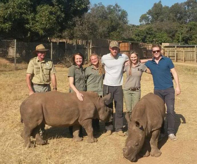 The 30-year-old royal and his adorable beard have been crusading for animal welfare in Africa after the end of his 10-year tenure with the British Military. Harry seems particular fond of his new friend Warren, a baby rhino.