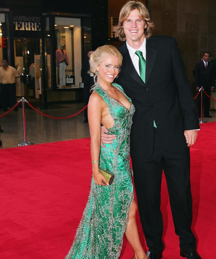 Haley and her husband, Nathan, at the Allen Border Medal in 2006.