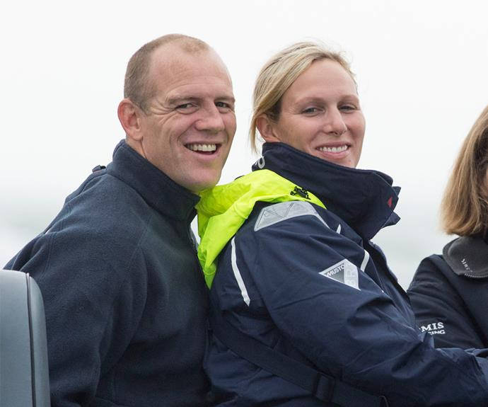The royal pair smiling happily for photographers as they competed in the Artemis Challenge in the Isle of Wight.