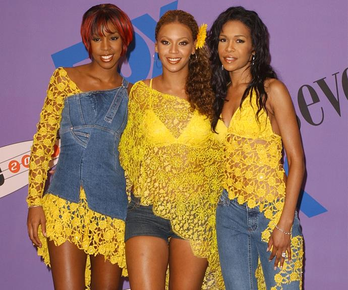 Destiny's Child's crochet co-ordination at the 2001 TCAs totally stole the show.
