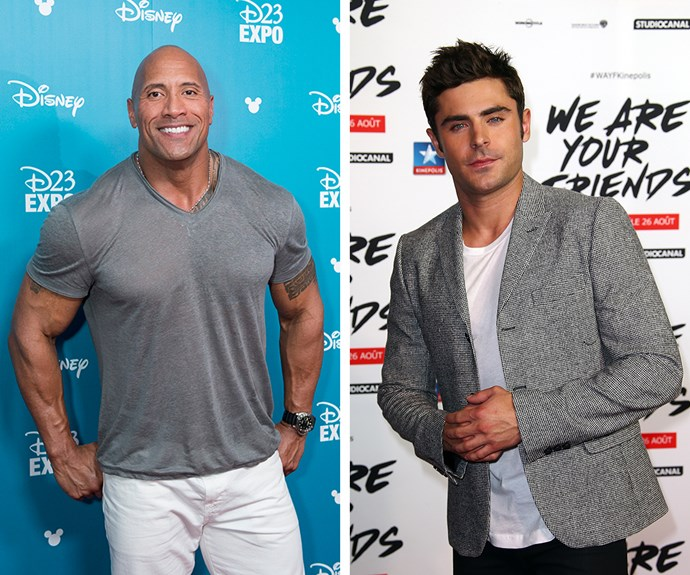 The lead stars, Dwayne 'The Rock' Johnson and Zac Efron.