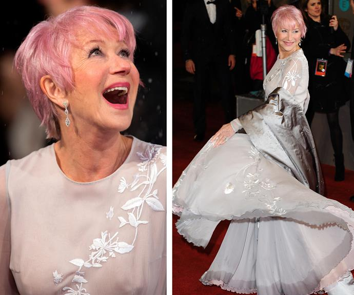 The enchantress that is Helen Mirren can do no wrong, as she rocks a fairy floss-coloured pixie cut. Talk about being pretty, nay, FIERCE in pink!