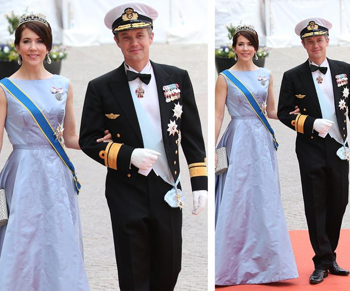 Beautiful in blue: The brunette stunner turned heads in this elegant pastel gown when she attended the wedding of [Prince Carl Philip, Duke of Värmland and Sofia Hellqvist in Sweden in June.]( http://www.womansday.com.au/royals/international-royals/swedens-prince-carl-philip-marries-former-glamour-model-sofia-hellqvist-12859)