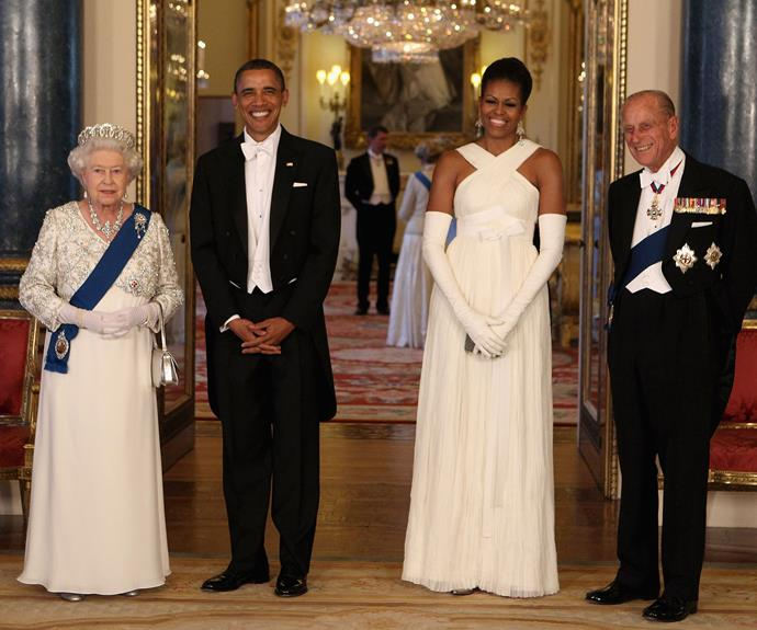 State Banquets at Buckingham Palace are a very glamorous affair, The Queen put on a stunning show for the Obamas when they visited in 2011.