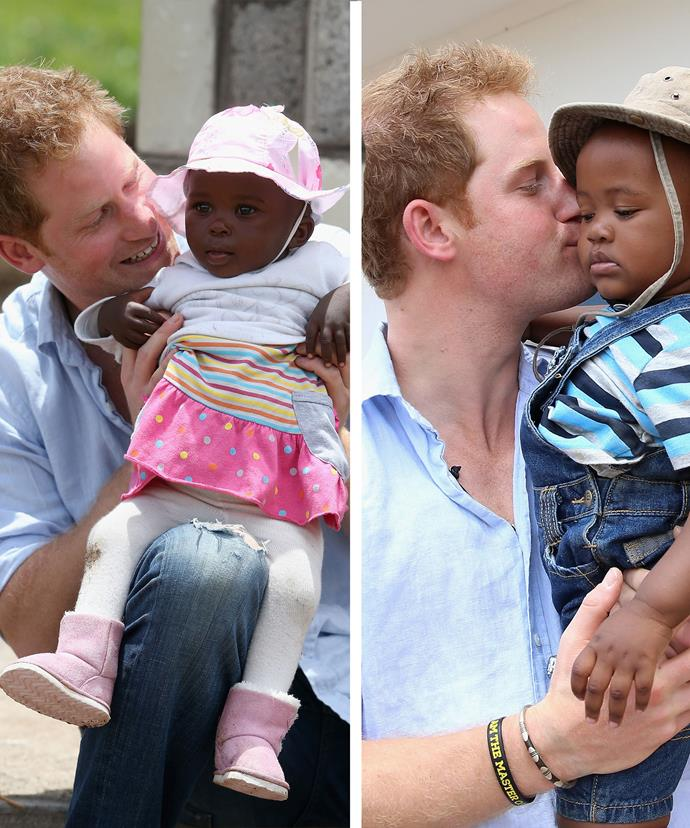 Prince Harry's last visit to Lesotho saw him mingling with the locals in 2014.