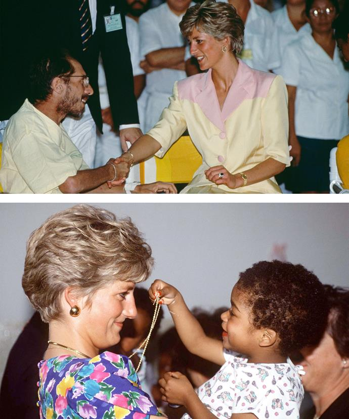 Princess Diana broke the stigma associated with HIV/AIDS by becoming the first member of the Royal Family to make contact with a person suffering from the illness.