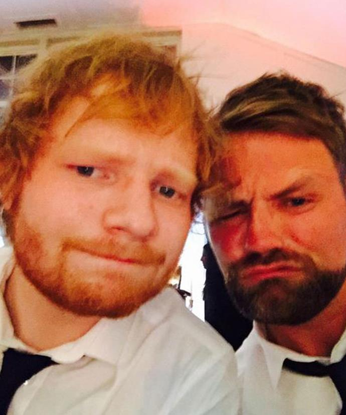 Brain McFadden posted this selfie with Ed Sheeran during Ronan and Storm's Scottish nuptials.