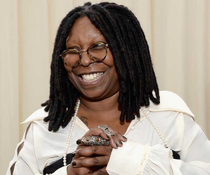 """**Whoopi Goldberg = Caryn Elaine Johnson.** """"If you get a little gassy, you've got to let it go. So people used to say to me, 'You're like a whoopee cushion.' And that's where the name came from,"""" Whoopi explained during one of her sets."""