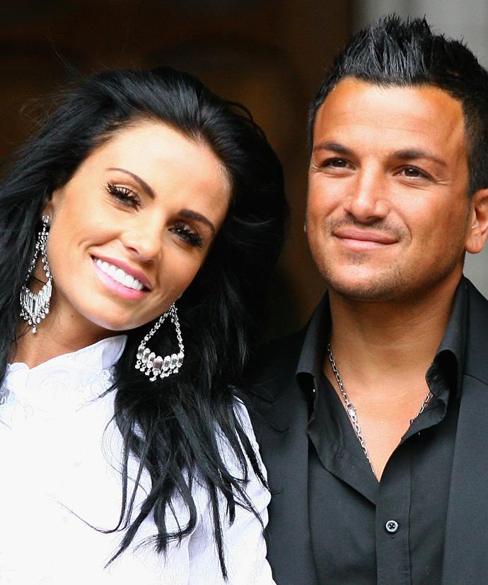 Katie with her ex-husband, Aussie pop star Peter Andre.