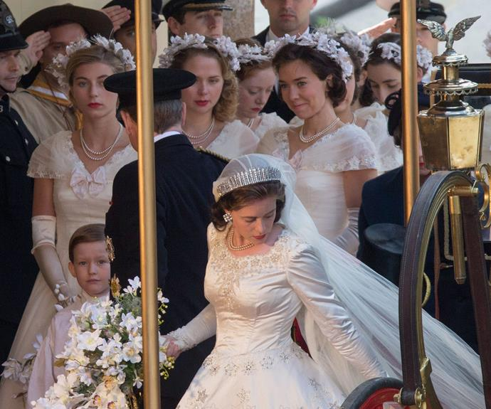 American production company, Netflix is recreating Queen Elizabeth's breathtaking 1947 wedding to Prince Philip for new television show, *The Crown.*