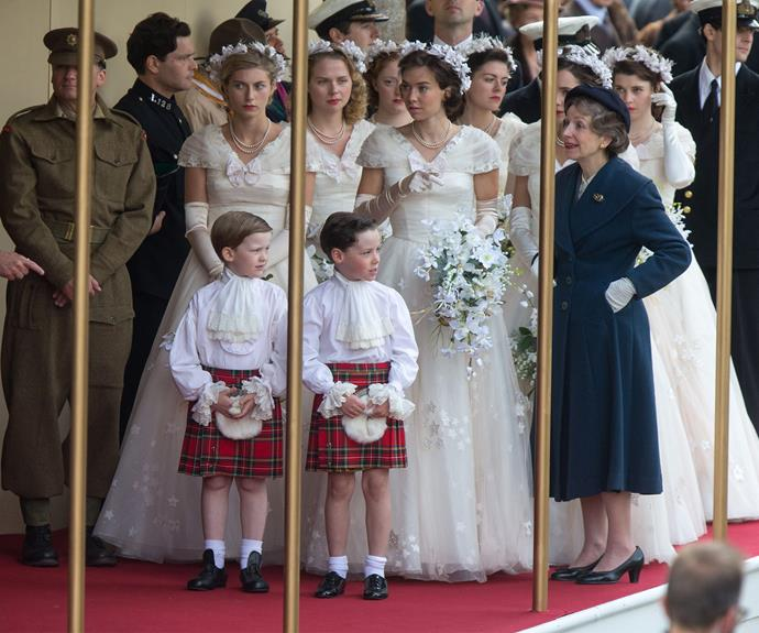 *The Crown* will also include Elizabeth's sisters and bridesmaids Princess Margaret and cousin Princess Alexandra of Kent.