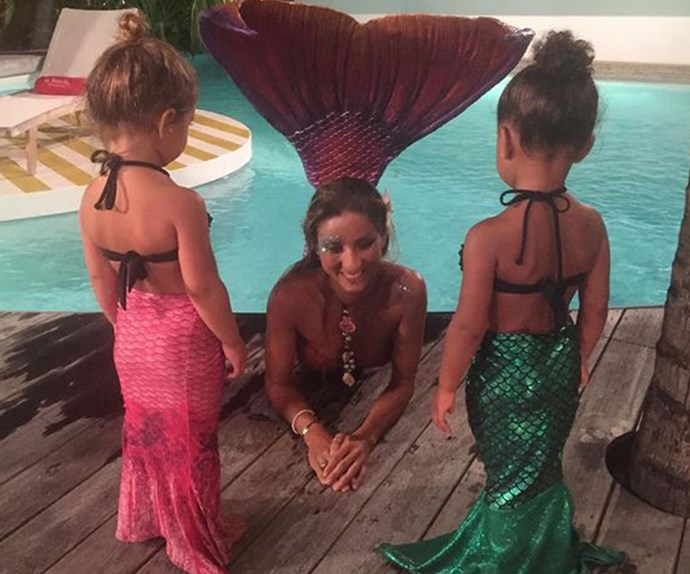 Warning, this image comes with some serious cuteness overload. Toddler Queens Penelope Disick and North West got to meet a real-life mermaid (kinda) on their holiday to Saint Barts earlier this week.