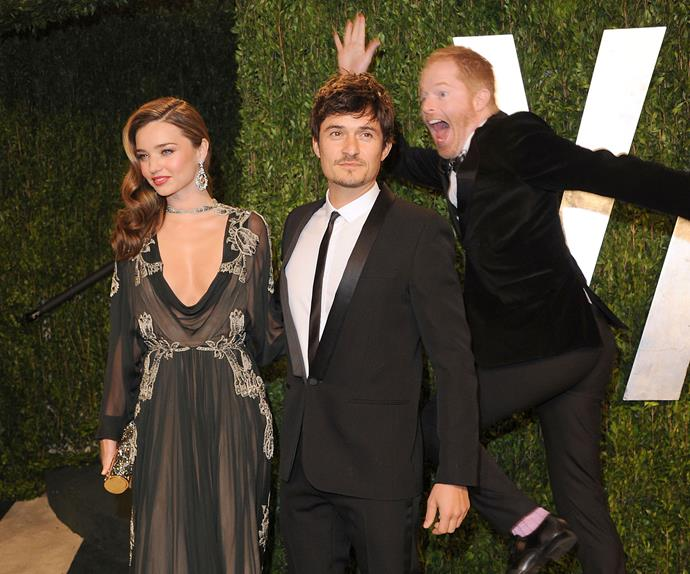 Probably among the greats of photobombing! *Modern Family*'s Jesse Tyler Ferguson saw an opportunity back in 2013 and he took it with Miranda Kerr and her then-husband, Orlando Bloom were certainly taken by surprise.