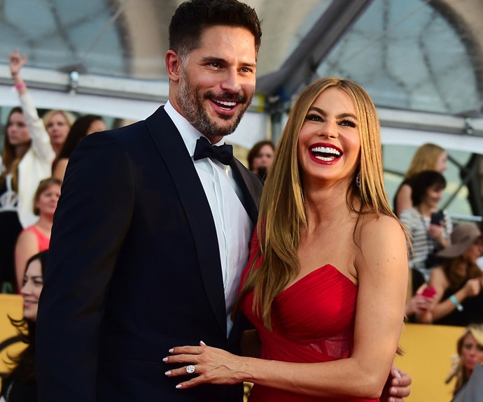 "Sofia Vergara is all smiles with this diamond sparkler and who could blame her with that beauty? ""This is the love hand,"" Vergara exclaimed, showing off her amazing rock."