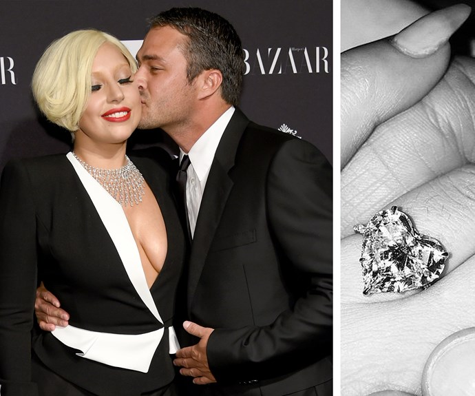 Bad romances are thing of the past for Lady Gaga! Her boyfriend, Taylor Kinney proposed in spectacular fashion on Valentine's Day 2015 with a heart-shaped stunner.