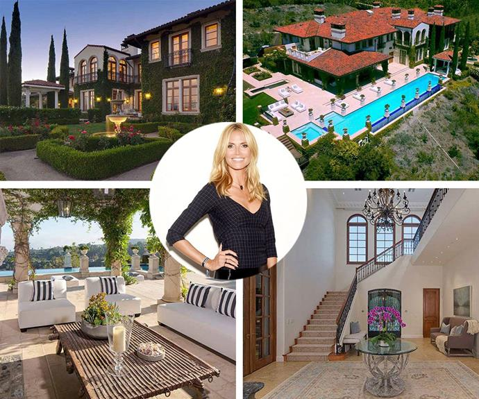 Last year Heidi Klum listed the sale for the epic estate she bought and renovated with ex-husband Seal for a cool $25 million. Purchased in 2010, Heidi has given the the 12,300 sq foot, eight-bedroom, ten-bathroom Italian-villa themed property,a complete overhaul. It's no secret that we are besotted with their seductive home.