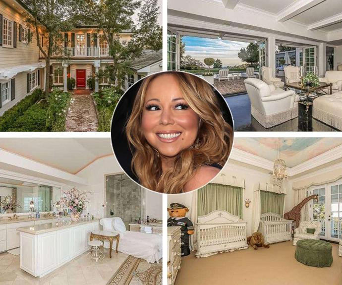 Mariah Carey and her ex-husband Nick Cannon listed their Bel Air home on the market and for the bargain price of $13 million. The seven bedroom, nine bathroom home, which is set on 11,750 square feet, features a home theatre, gym, music room, basketball court, games room, swimming pool and open-air cabana. Maybe the *Dream Lover* singer will consider settling with beau, James Packer at his new Barangaroo project.